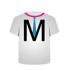 T Shirt Template- letter M vector image