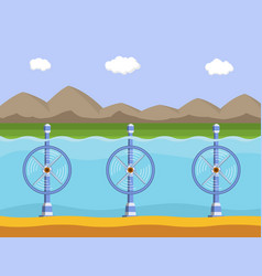 Tidal power station vector