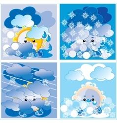 Weather season vector