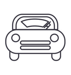 Windshield car line icon sign vector