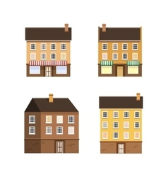 Set of the houses small town vector