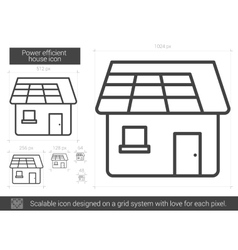 Power efficient house line icon vector