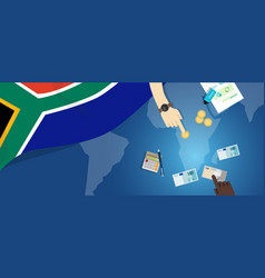 South africa economy fiscal money trade concept vector