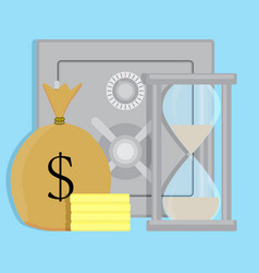 keeping money in safe vector image