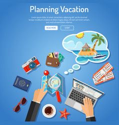 Planning vacation concept vector
