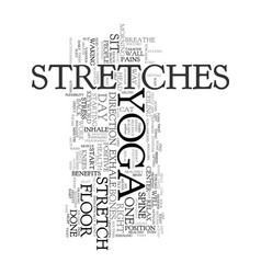 Yoga stretches text word cloud concept vector