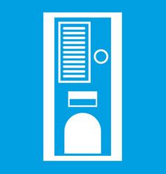 coffee vending machine icon white vector image