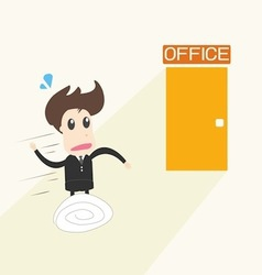 Businessman in rush vector
