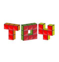 3d symbols out of blocks vector