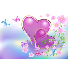 decorative hearts vector image