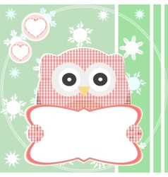cute pattern owl vector image