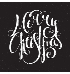 Hand written grunge inscription Merry Christmas vector image