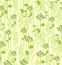 Texture with abstract floral branches vector