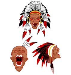 Native warriors vector