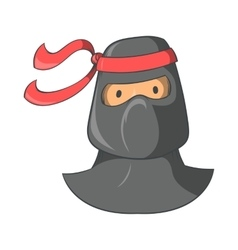 Ninja mascot icon cartoon style vector