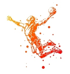 abstract basketball player in jump vector image vector image
