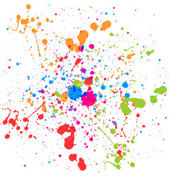 abstract splatter multi color background vector image