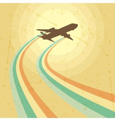 airplane flying in the sky vector image