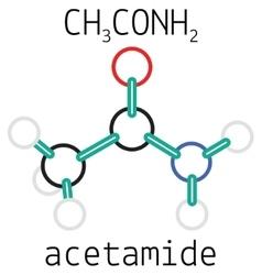 C2h5no acetamide molecule vector