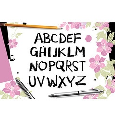Calligraphic script font vector