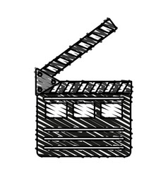 Clapperboard icon image vector