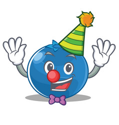 clown blueberry character cartoon style vector image