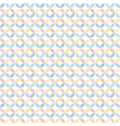 Colorful many geometric circle seamless pattern vector