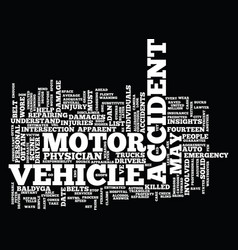 Fourteen solid motor vehicle accident insights vector