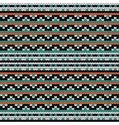 Geometric knitting seamless pattern vector image vector image