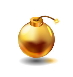 gold bomb vector image vector image