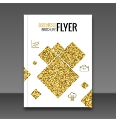 Gold Flyer design template Greeting Card Design vector image vector image