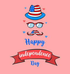 Greeting card for independence day style vector