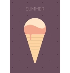 Ice Cream Flat Design vector image vector image