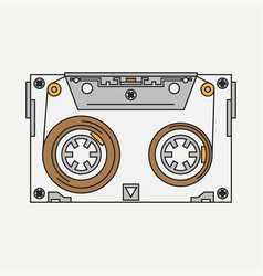 Line color icon audiocassette hipster vector