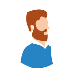 man hipster style model vector image vector image