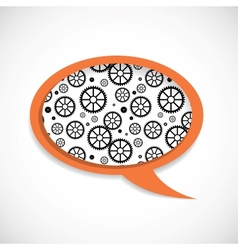 Mechanical Wheels Speech Bubble vector image vector image