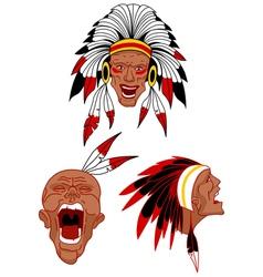 native warriors vector image vector image