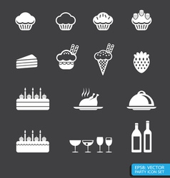 party icon set vector image vector image