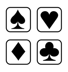 playing card isolated on white background vector image vector image