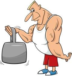 strong man athlete cartoon vector image vector image