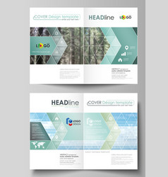 templates for bi fold brochure flyer booklet or vector image
