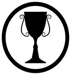 Trophy cup black vector