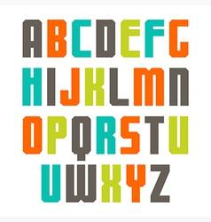 Varicolored sans serif font vector