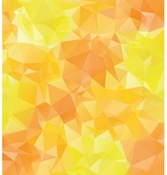 Yellow orange polygons vector
