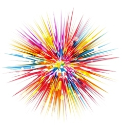 Colorful abstract burst vector