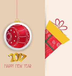 Merry christmas and happy new year 2017 ball vector