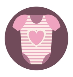 Isolated baby cloth design vector