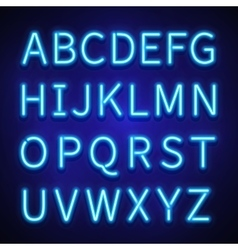 Glowing neon lights signs typeset letters vector