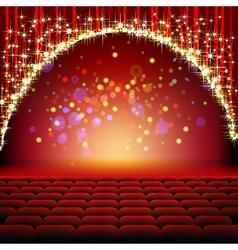 cinema stars film vector image