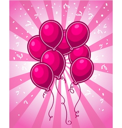 Pink party balloons vector